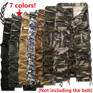 Image 2 - New Fashion Men Casual Military Cargo Pants Camo Combat Loose Straight Long Baggy camouflage Trousers Plus Size