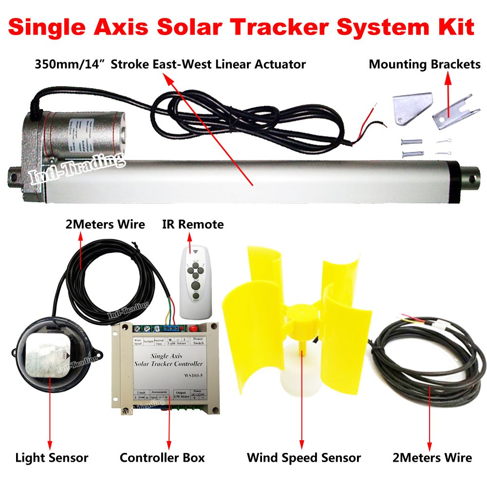 A Light Sensor 2 Wiring To Motor Schematics Diagrams Outdoor Lights In Parallel 12v Solar Tracking Track Sun Tracker Kits 14 Linear Actuator Dc Rh Aliexpress Com Motion For Fixture Switch Home Diagram