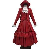 2018 Black Butler Angelina Dalles Anne Madam Red Cosplay Kostüm