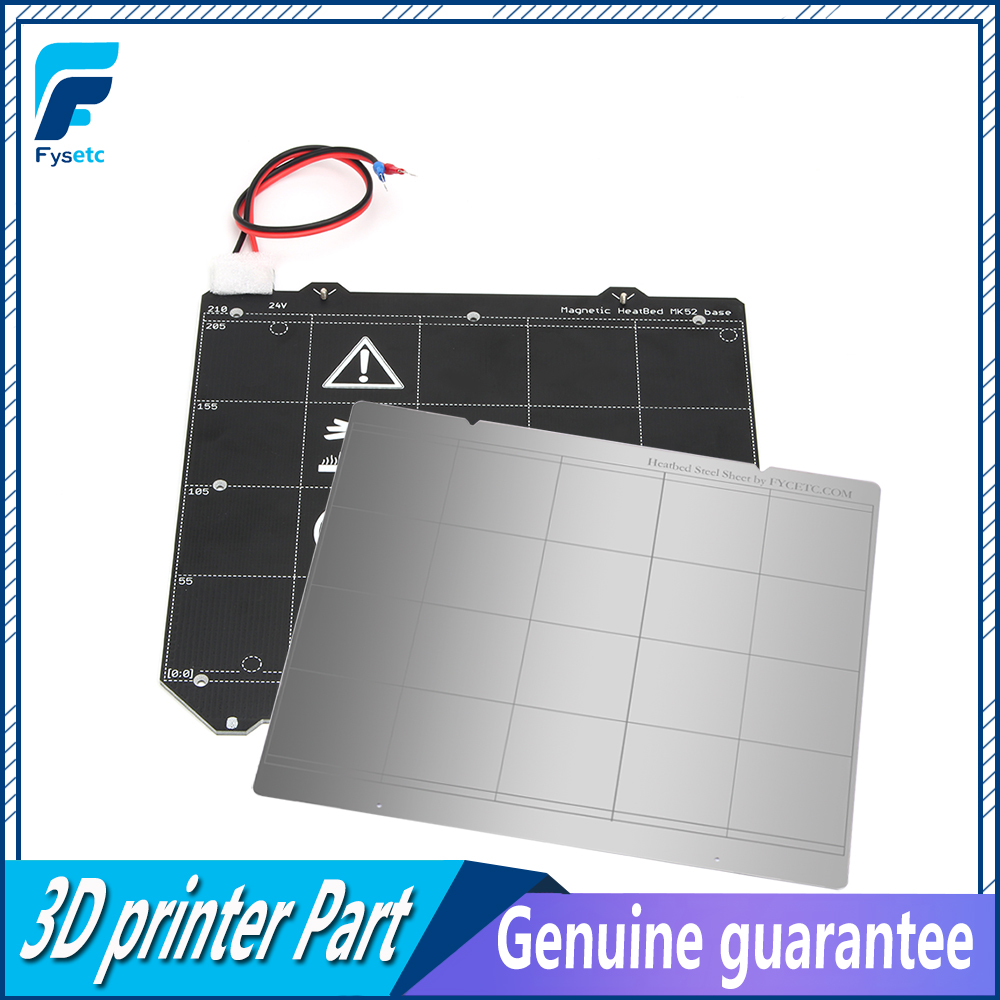 Clone Prusa i3 MK3 3D Printer MK3 Magnetic Heated Bed MK52 Wiring Thermistor Kit With Magnet + Steel Sheet For Prusa i3 MK3 MK3S