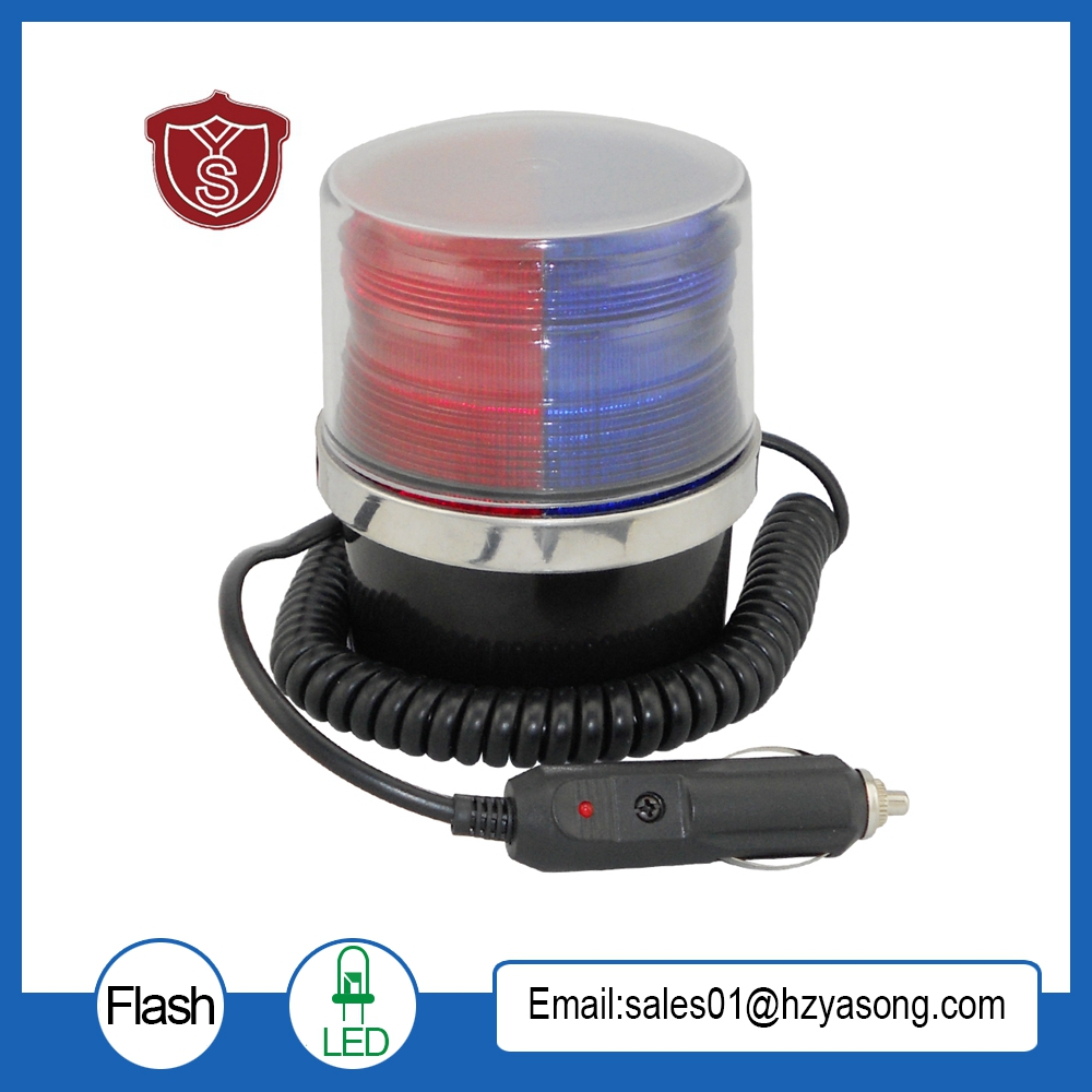 LTD-5092 DC12V/24V Red blue police led warning lights Car Emergency Strobe Light with magnet bottom ltd 5092 warning light police car led warning light round 5w strobe red blue flashing factory dc12v dc24v