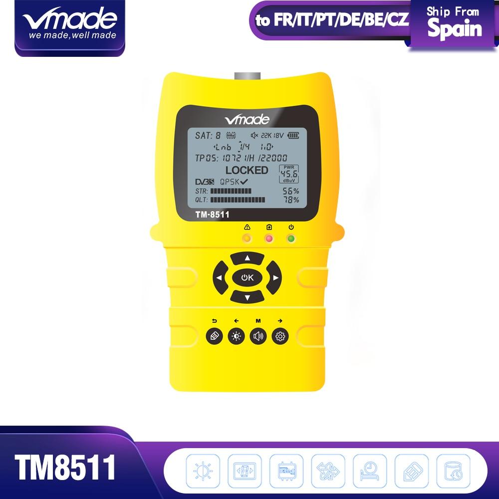 Vmade 2019 Original Satlink TM-8511 Satellite Finder DVB-S2 FTA CKU Band HD 1080P 2.0 Inch LCD Digital Sat Finder Signal Meter