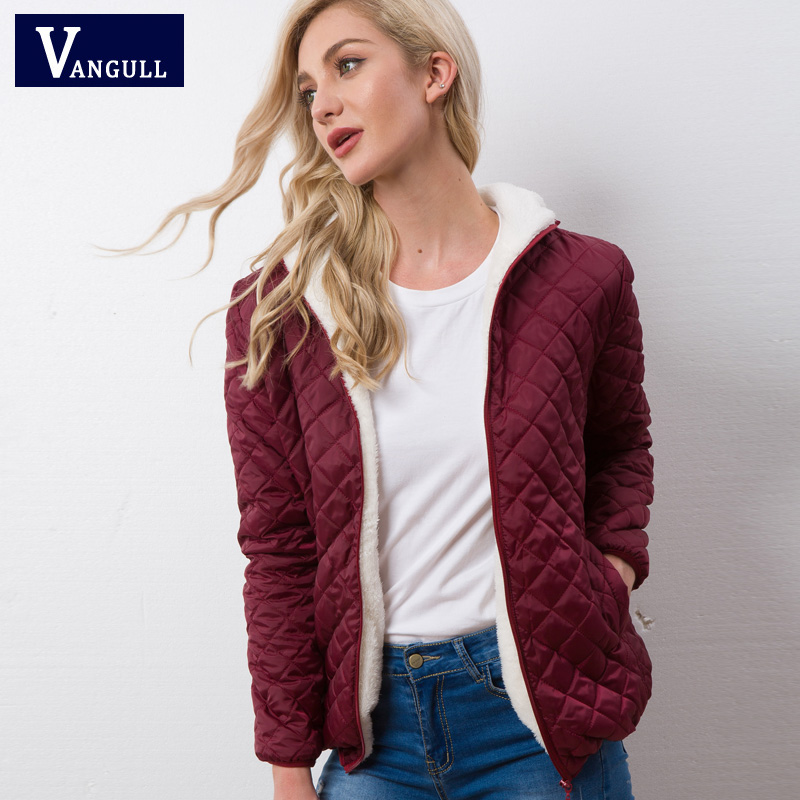 Autumn 2019 New Parkas basic jackets Female Women Winter plus velvet lamb hooded Coats Cotton Winter Jacket Womens Outwear coat 2