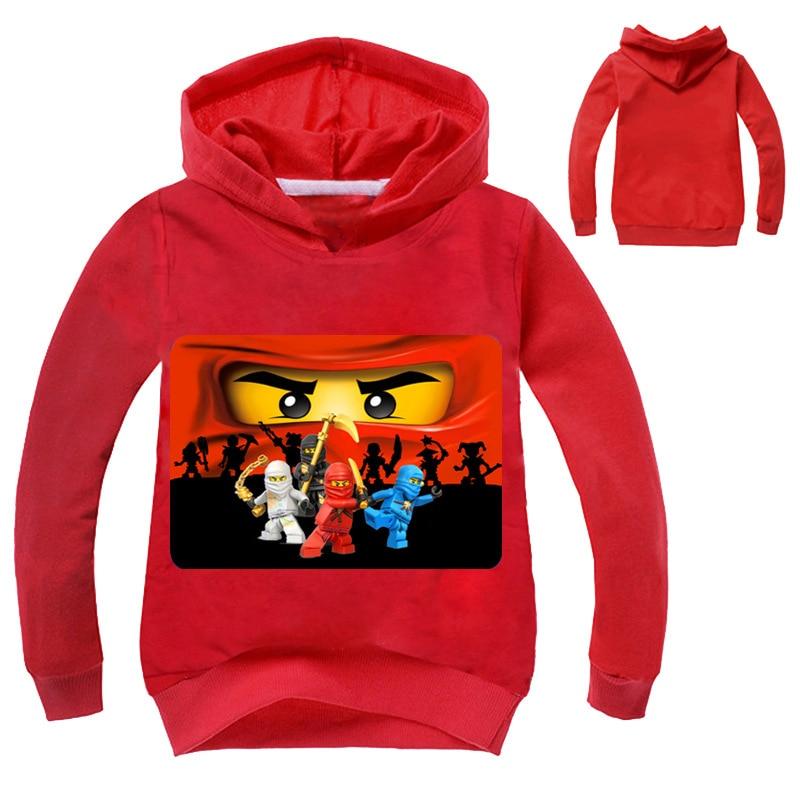 Novos Meninos Outwear Hoodies Dos Desenhos Animados Ninja Ninjago Ninjago  Trajes Roupas T camisas Camisolas das Crianças Para Meninos Crianças  Encabeça 3 ... 1590c260c266a