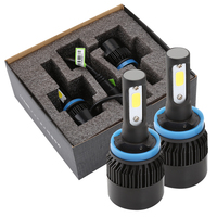2pcs Car LED Headlight 80W 8000LM H1 H4 H7 LED Headlamp Kit Hi Lo Beam Bulb