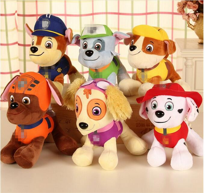 20CM Canine Patrol Dog Toys Russian Anime Doll font b Action b font font b Figures