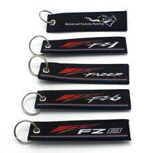 Chaveiro de motocicleta para yamaha fz1, etiqueta de carro preto para fazer fz6 fz8 chaveiro com corrente