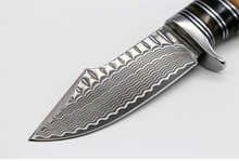 Strong Damasteel Camping Knife Fixed Blade Sharp Damascus Hunting Knife Survival Knives Fixed Blade 1721#