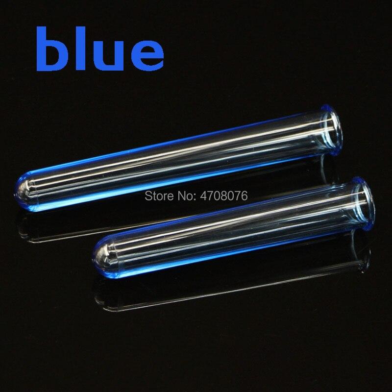 50 Pcs/lot Tube à essai en plastique bleu Cocktail KTV boîte de nuit accueil éméché tasse à vin charmes Bar barman accessoires