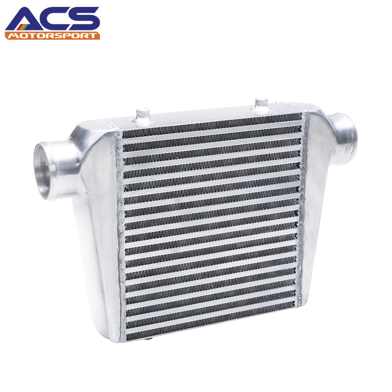 ACS- 100% Aluminum UNIVERSAL INTERCOOLER CORE SIZE 280mm X 300mm X 76mm Radiators Parts INLET/OUTLET 3(76mm)/3(76mm) For BMW epman universal black 3 76mm polished aluminum fmic intercooler piping kit diy pipe l 450mm for bmw e30 3 series ep lgtj76 450