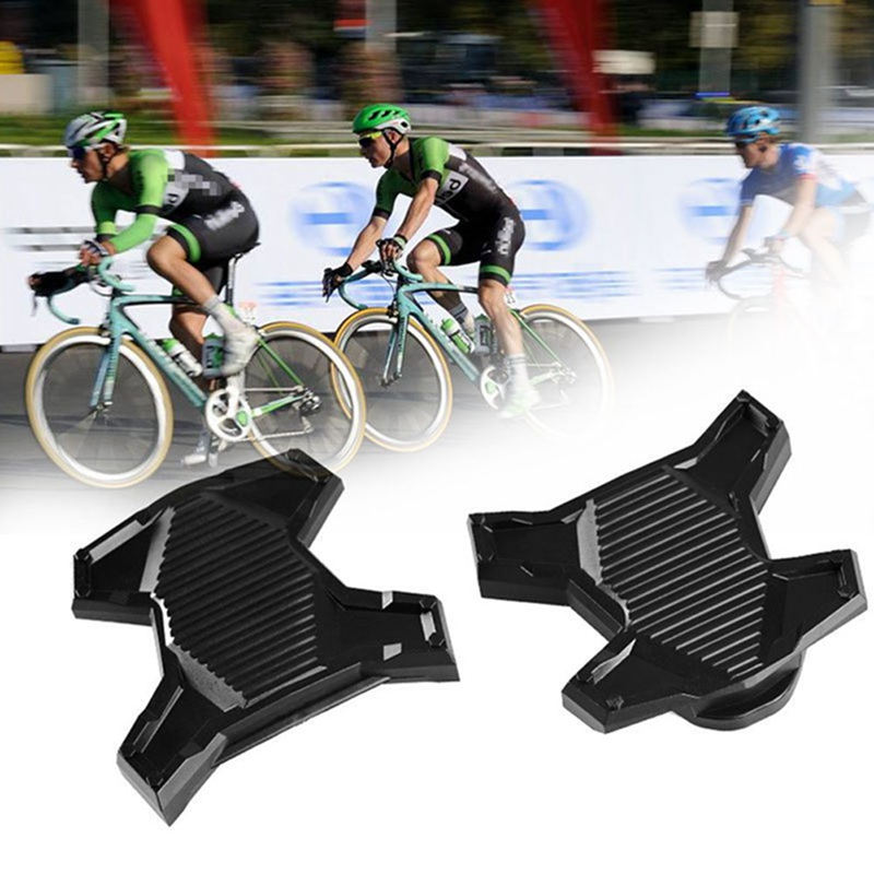 1 Pair Road Bike Self-Locking Pedal Modification Lock Pedal Conversion Flat Pedal Modified Flat Pedal For SPD System KEO System