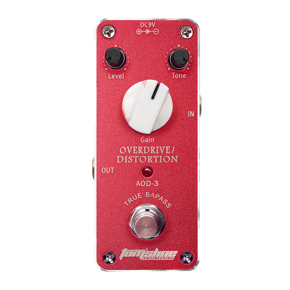 Aroma Tomsline AOD-3 Mini Aluminum Alloy Overdrive Distortion Electric Guitar Effect Pedal True BypassAroma Tomsline AOD-3 Mini Aluminum Alloy Overdrive Distortion Electric Guitar Effect Pedal True Bypass