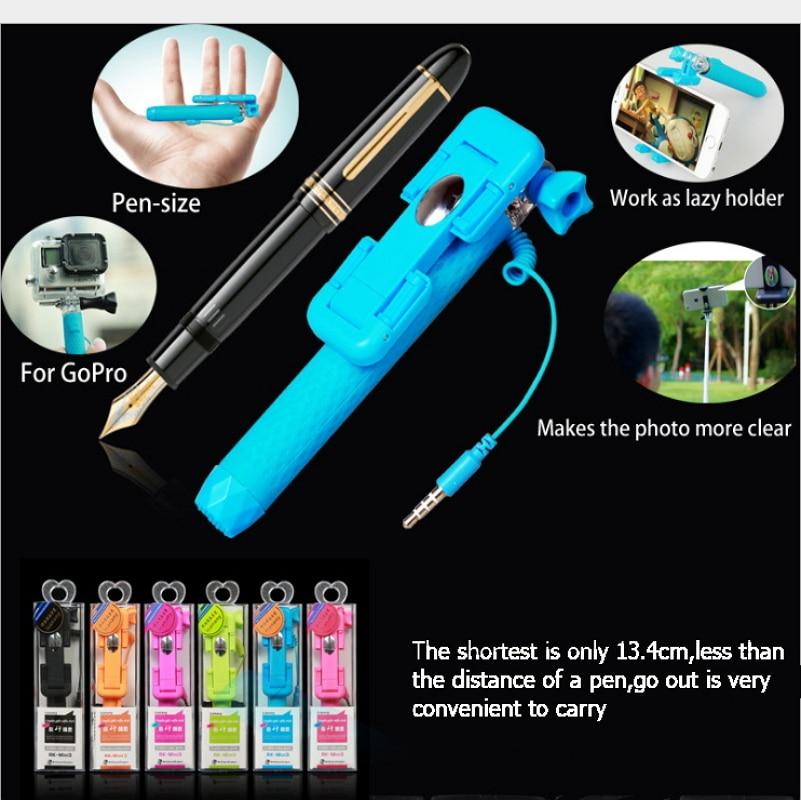 Universal Mini Handheld Monopod Wired Selfie Stick Extendable - Kamera och foto - Foto 4