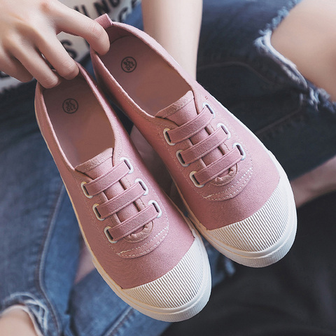 Women Casual Shoes 2019 Spring summer outdoor Sneakers Women Canvas shoes Girl shoes Flats classic white student shoes Karachi
