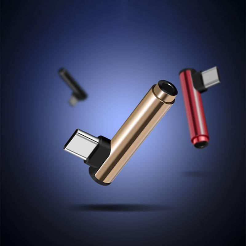Universal Typec to 3.5mm jack Audio Adapter Headphone Adapter Type-C AUX Audio Splitter for xiaomi 6 Letv/2.2 pro/max2/pro3