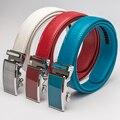 Rojo Ocasional Diseñadores de Lujo de cuero de Vaca Cinturones de Correa de Cuero para Hombre de la Marca de Alta Calidad Masculino Homme Ceinture Pretina de Las Mujeres de Piel de Vaca