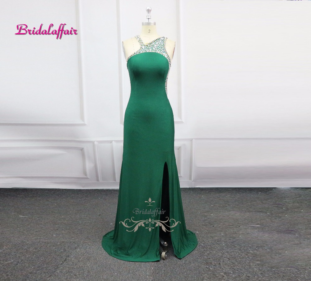 Real Photos <font><b>Sexy</b></font> Party Occasion <font><b>Long</b></font> Evening <font><b>Dress</b></font> <font><b>2018</b></font> video Teal Color Spandex Beading Crystal Formal Celebrity <font><b>Dress</b></font> image