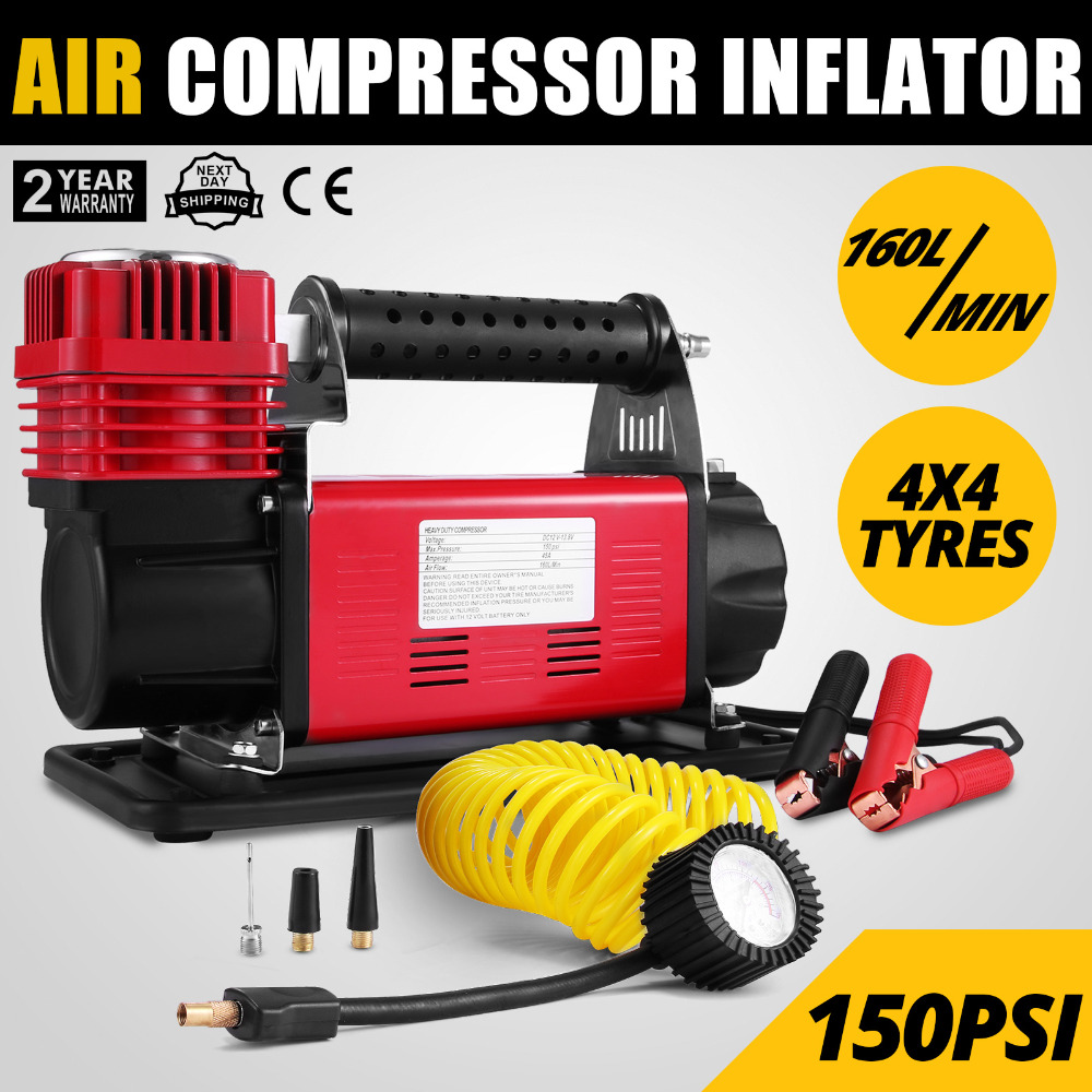 12V Adventurer Heavy Duty Portable Air Compressor 4X4 Tyre Pump