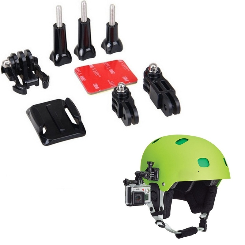 Gopro Accessories Helmet Curved Adhesive Side Mount Kit for GoPro Hero 5/4/4s/ 3+/3,SJCAM,Xiao Yi Sport Cameras miniisw k b 7 in 1 multi purpose mount kit for gopro hero 4 3 3 2 1 rd32 36 aee sport cameras