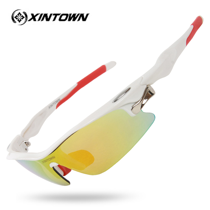 XINTOWN Brand Polarized Cycling Glasses Bike Outdoor Sports Bicycle Sunglasses Goggles 5 Groups of Lenses Eyewear Myopia Frame
