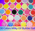 FREE SHIPPING pure color uv gel color set 30 nail gels nail polish  PRO Nail Art Builder Gel Wholesale