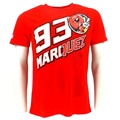 Free shipping 2017 Marc Marquez 93 The Ant Cartoon Moto GP T-shirt Red Moto GP racing T-Shirt moto jersey