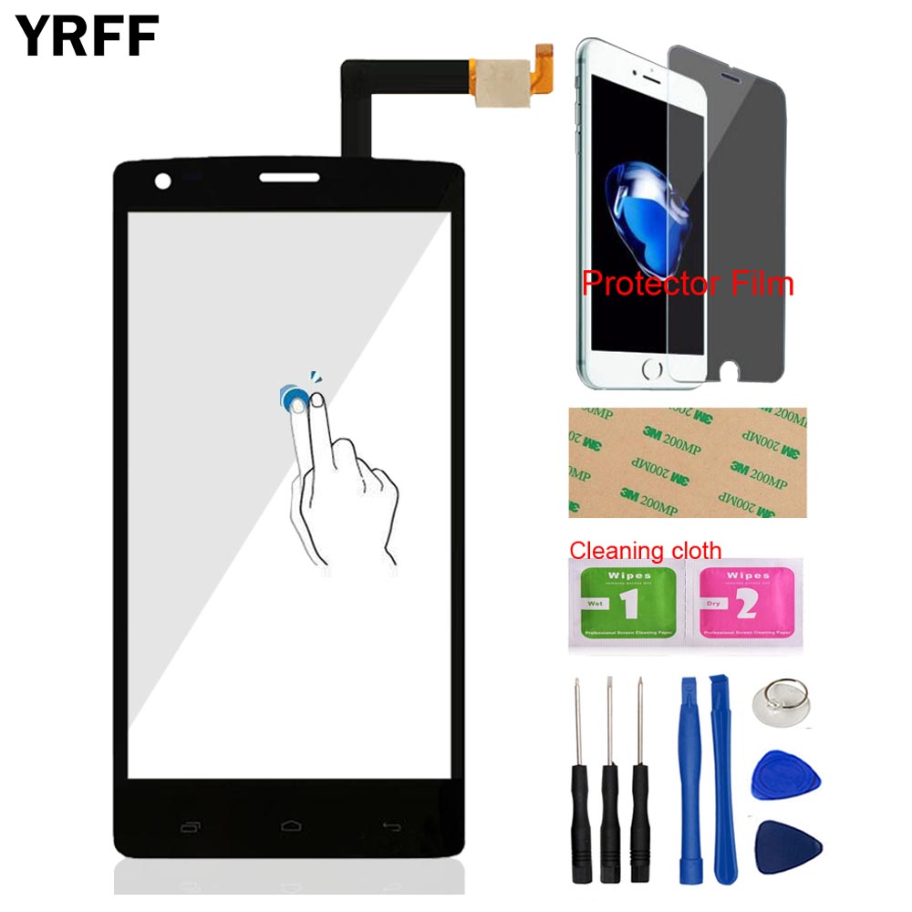5.0 Front Glass Touch Screen Digitizer Panel Glass Sensor For Fly IQ 4505 IQ4505 Quad Era Life 7 Tools Protector Film Adhesive ...
