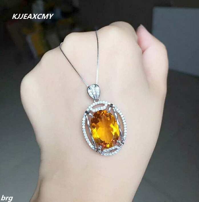 Buy large citrine pendant and get free shipping on aliexpress aloadofball Choice Image