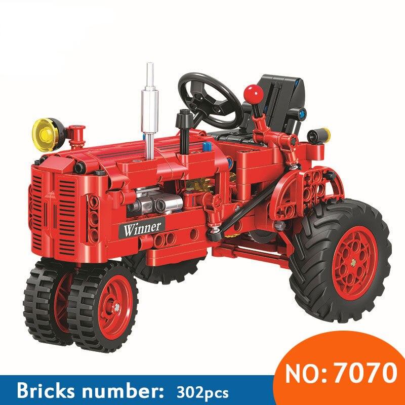 Gewinner 7070 302 stücke Technik Klassische Klassischen Alten Traktor baustein DIY Lernspielzeug Ziegel für kinder Lustige Geschenk