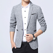 Mwxsd brand Men's Casual Slim Fit Blazer suit jacket Men Single Button Blazer Male fashion Suit Blue Jacket and Coat for Male