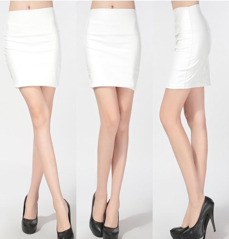 Short white mini skirt