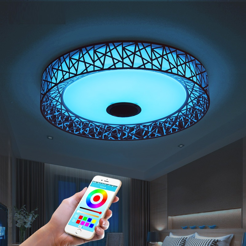 APP LED Ceiling Lamps Bluetooth Music Colorful Ceiling Light Luminaria LED Remote Control With Bluetooth Lamp Lamparas mipow playbulb sphere bluetooth intelligent led light with app control