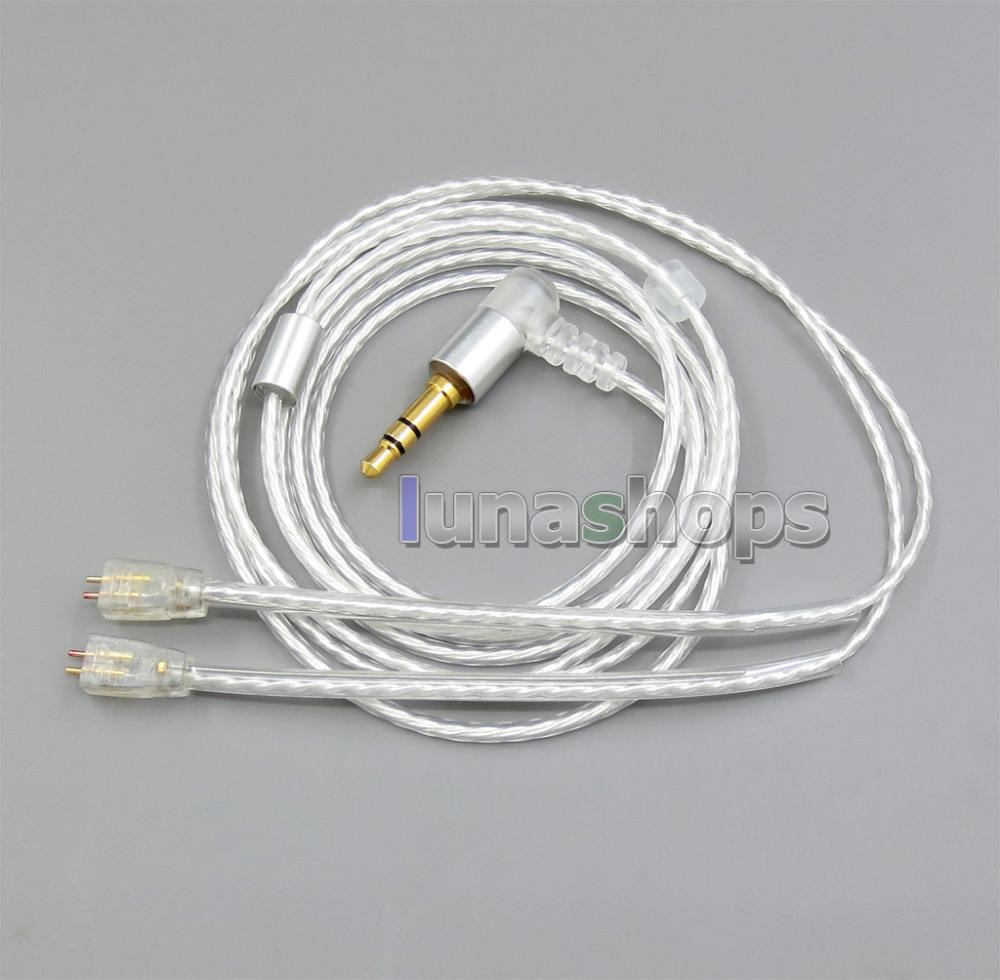1.2m GY-Seiris 5N OCC Silver Plated PVC Cable For Ultimate Ears UE TF10 TripleFi 15vm M-Audio