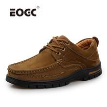 Suede Leather Men Boots Designer Lace Up Men Shoes Non-Slip Ankle Boots Thick Bottom Retro Autumn Shoes Men