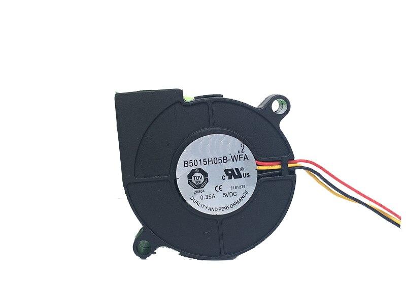 2PCS FAN FOR 5CM 5015 5V 0.35A B5015H05B-WFA 3 wire dual ball bearing turbo fan blower delta efb0405hha 5v 0 25a 4cm 4010 2 wire dual ball bearing cooling fan