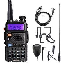 Walkie Talkie Baofeng UV 5R สถานีวิทยุ 128CH VHF UHF วิทยุ CB แบบพกพา Baofeng UV 5R วิทยุสำหรับการล่าสัตว์ UV5R