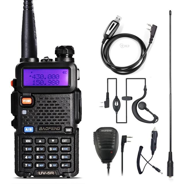 Walkie Talkie Baofeng UV 5R Radio Station 128CH VHF UHF Zwei weg Radio cb Tragbare baofeng uv 5r Radio Für jagd uv5r