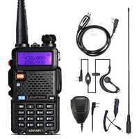 Walkie Talkie Baofeng UV-5R Radio Station 128CH VHF UHF Zwei-weg Radio cb Tragbare baofeng uv 5r Radio Für jagd uv5r
