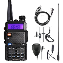 Walkie Talkie Baofeng UV 5R radyo istasyonu 128CH VHF UHF iki yönlü radyo cb taşınabilir baofeng uv 5r radyo avcılık uv5r