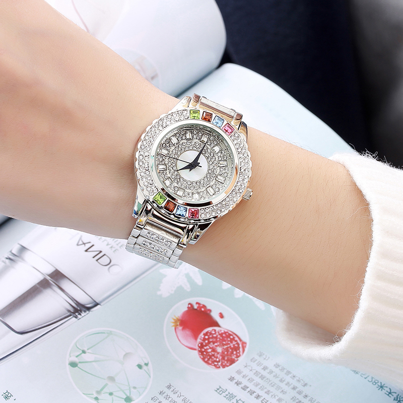 2018 Luxury Women Watches Diamond Famous Brand Elegant Dress Quartz Watches Ladies Rhinestone Wristwatch Relogios Femininos