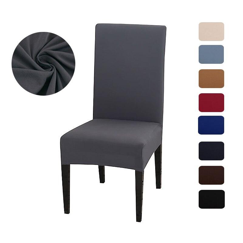 Одноцветное Цвет спандекс Съемная крышка стула для ужина, офиса, свадьбы, вечерние, ресторан, отель украшения дома fundas para sillas