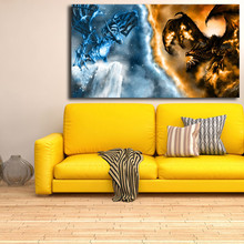 World Of Warcrafts Canvas Painting Print Bedroom Home Decor Modern Wall Art Oil Poster Picture Framework
