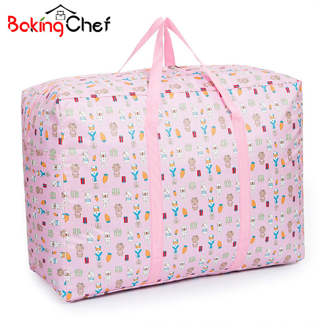 Bakingchef Large Cute Rabbit Clothing Storage Bag Shifting Of Season Quilt Moving Luggage Bags Accessories
