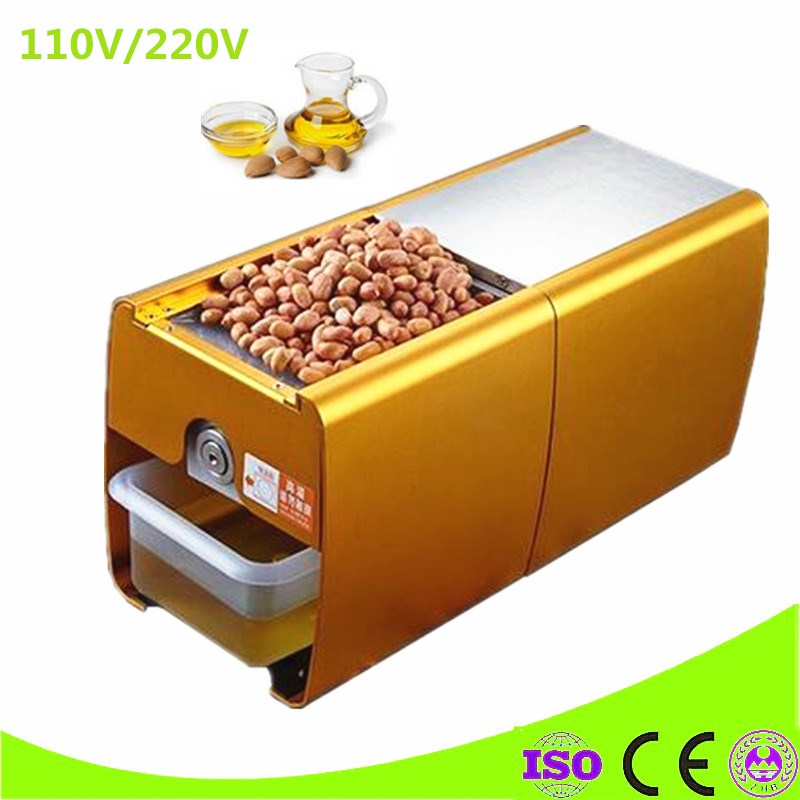 Mini Home Use Oil Press Machine For Peanuts Sesame Nuts Corn Vegetable Seeds Oil Extraction Machine free shipping home use cold olive oil press machine nuts seeds oil presser pressing machine all stainless steel peanuts oil