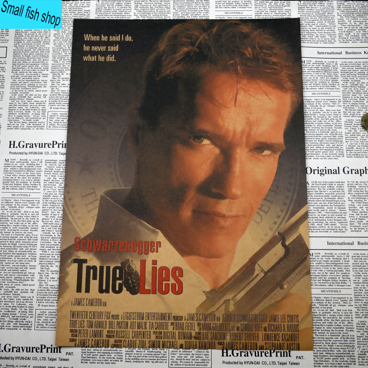True Lies Arnold Schwarzenegger Movie Poster Home Furnishing Decoration Kraft Drawing Core Wall Stickers In From Garden On