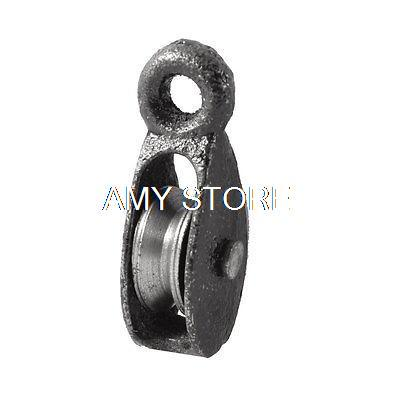 20kg 0.02T Cargo Lifting Tackle Single Groove Sheave Pulley Black