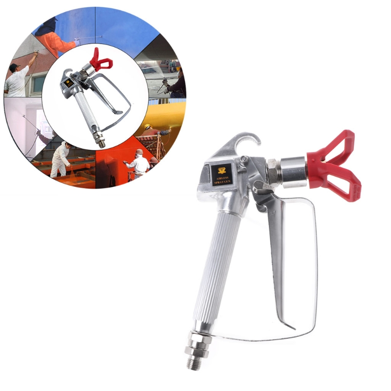 TOOZO 3600PSI High Pressure Airless Paint Spray Gun With Nozzle For Graco Wagner Titan high quality 1pc 4000psi airless paint spray gun kit with 517 nozzle guard for graco titan wagner best price