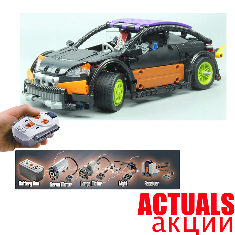 LEPIN 20053 Hatchback Type R Technic Model Building Blocks Bricks Toys For Kids Model 640PCS Compatible with legoINGly 21001