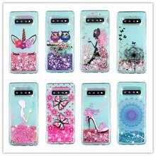 For Samsung Galaxy S10 Plus Case Liquid Glitter Lite S 10 + S10E Girl Dynamic Quicksand Star Soft TPU Cover
