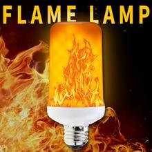 E26 LED Light Fire E27 LED Flame Lamp E14 Flickering Emulation Flame Effect LED Bulb 220V Creative Burning Decoration Light 110V flame led bulb 220v e14 led flame effect lamp 110v e27 led 12v flickering emulation fire light bulb e26 creative decoration lamp